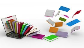 Books from your laptop stock illustration