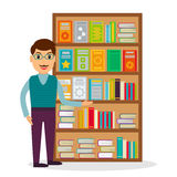 Bookseller at the bookstore or librarian. Royalty Free Stock Photography
