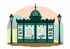 Bookseller kiosk. Newspaper stand, file EPS 10 Stock Illustration