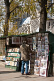 Parisian Bookseller Stock Images