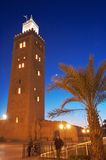 Bookseller's Mosque Minaret III. The Koutoubia (Bookseller's Mosque) in Marrakesh, Morocco stock images