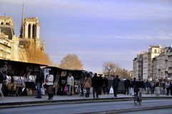 BOOKSELLERS ON RIVER SEINE -PARIS Stock Image