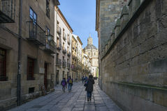 Booksellers Street. Salamanca Royalty Free Stock Photos