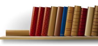 Bookshelf. Vector illustration of books on the shelf Stock Photos