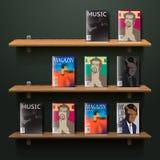 Bookshelf. Eps10 illustration Royalty Free Stock Photo