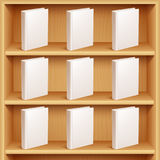 Bookshelf and Books with Blank Covers Royalty Free Stock Photos