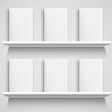 Bookshelf and Books with Blank Covers Stock Image