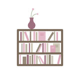 Bookshelf with Books. Illustration of a Bookshelf with Books Royalty Free Stock Images
