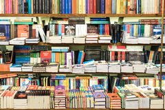 Bookshelf With Books In Library Stock Images