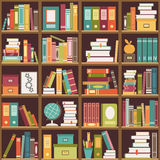 Bookshelf with books. Seamless background Stock Photography