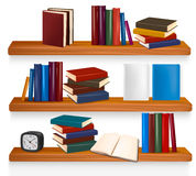 Bookshelf with books. Vector Stock Photo