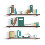 Bookshelf with books Stock Photos