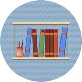Bookshelf with books Stock Photo