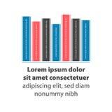 Bookshelf vector illustration. Bookshelf with color books. Vector illustration with sample text Stock Image