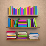 Bookshelf with colorful books Royalty Free Stock Photos