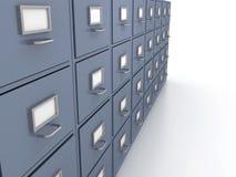 Bookshelf for documents Stock Photography