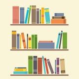 Bookshelf royalty free illustration