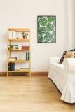Bookshelf in flat stock photo