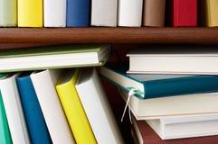 Bookshelf full of colorful books. Royalty Free Stock Image