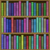 Bookshelf generated hires texture Royalty Free Stock Photography