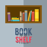 Bookshelf Graphic Royalty Free Stock Photos