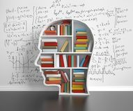 Bookshelf-head Royalty Free Stock Photography
