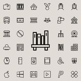 Bookshelf icon. Detailed set of minimalistic line icons. Premium graphic design. One of the collection icons for websites, web des. Ign, mobile app on colored Stock Photography