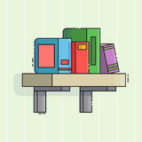 Bookshelf icon. Flat line style Royalty Free Stock Images