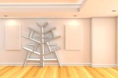 Bookshelf interior background Royalty Free Stock Photography