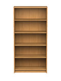 Bookshelf - isolated Royalty Free Stock Photos