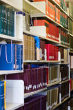 Bookshelf in libaray stock image