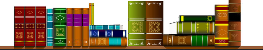 Bookshelf library with books Royalty Free Stock Photography