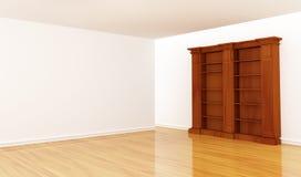 Bookshelf in minimalist interior Royalty Free Stock Photos