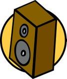 Bookshelf music speaker vector illustration Royalty Free Stock Image