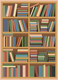 Bookshelf with Pastel Colored Books. Vector illustration of a Untidy Bookshelf with Pastel Colored Books Royalty Free Stock Image