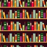 Bookshelf. Seamless vector pattern with books. Stock Photos