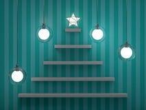 Bookshelf shaped christmas tree. 3D Royalty Free Stock Photography