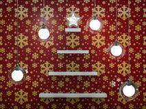 Bookshelf shaped christmas tree. 3D Stock Images