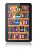 Bookshelf in tablet computer Stock Image