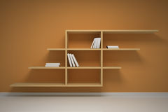 Bookshelf on the wall Stock Photo