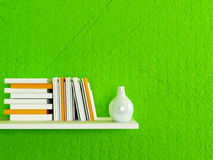 Bookshelf on the wall Stock Photography