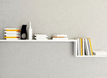 A bookshelf on the wall Royalty Free Stock Photo