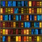 Bookshelf. Wooden bookshelf with books for interior decoration Royalty Free Stock Photography