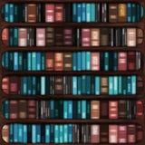 Bookshelf. Wooden bookshelf with books for interior decoration Stock Photo