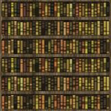 Bookshelf. Wooden bookshelf with books for interior decoration Stock Photos