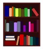 Bookshelf. Wooden bookshelf with colorful books Stock Photography