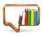 Bookshelf. Royalty Free Stock Photo