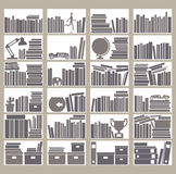 Bookshelfs Stock Images