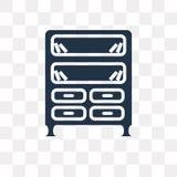 Bookshelve wektorowa ikona odizolowywająca na przejrzystym tle, książki royalty ilustracja