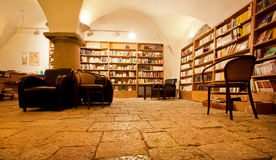 Bookshelves with antique books in the bookstore Royalty Free Stock Photography